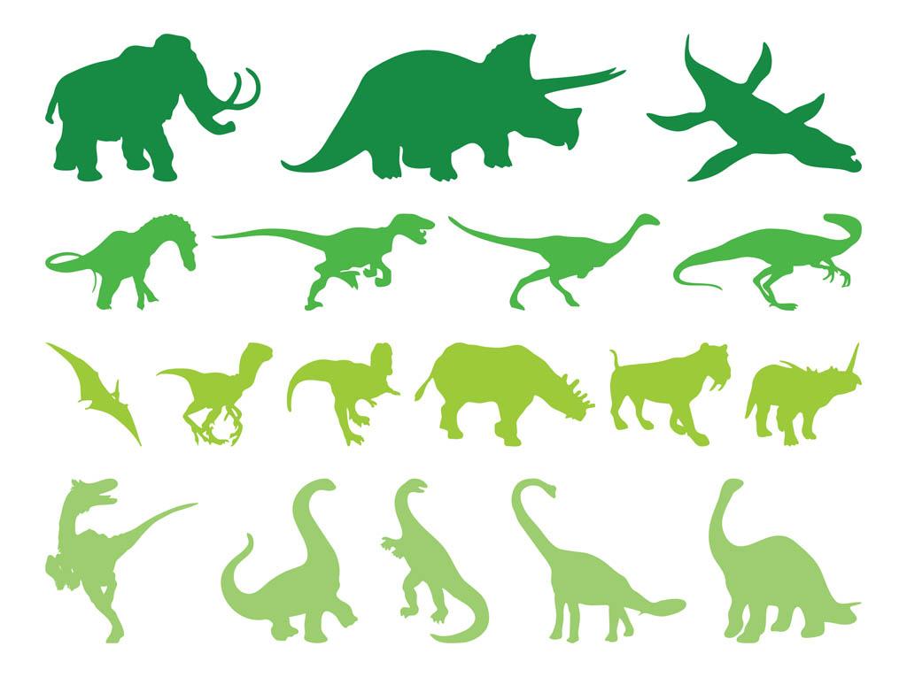 1024x765 Prehistoric Animals Silhouettes Vector Art Amp Graphics
