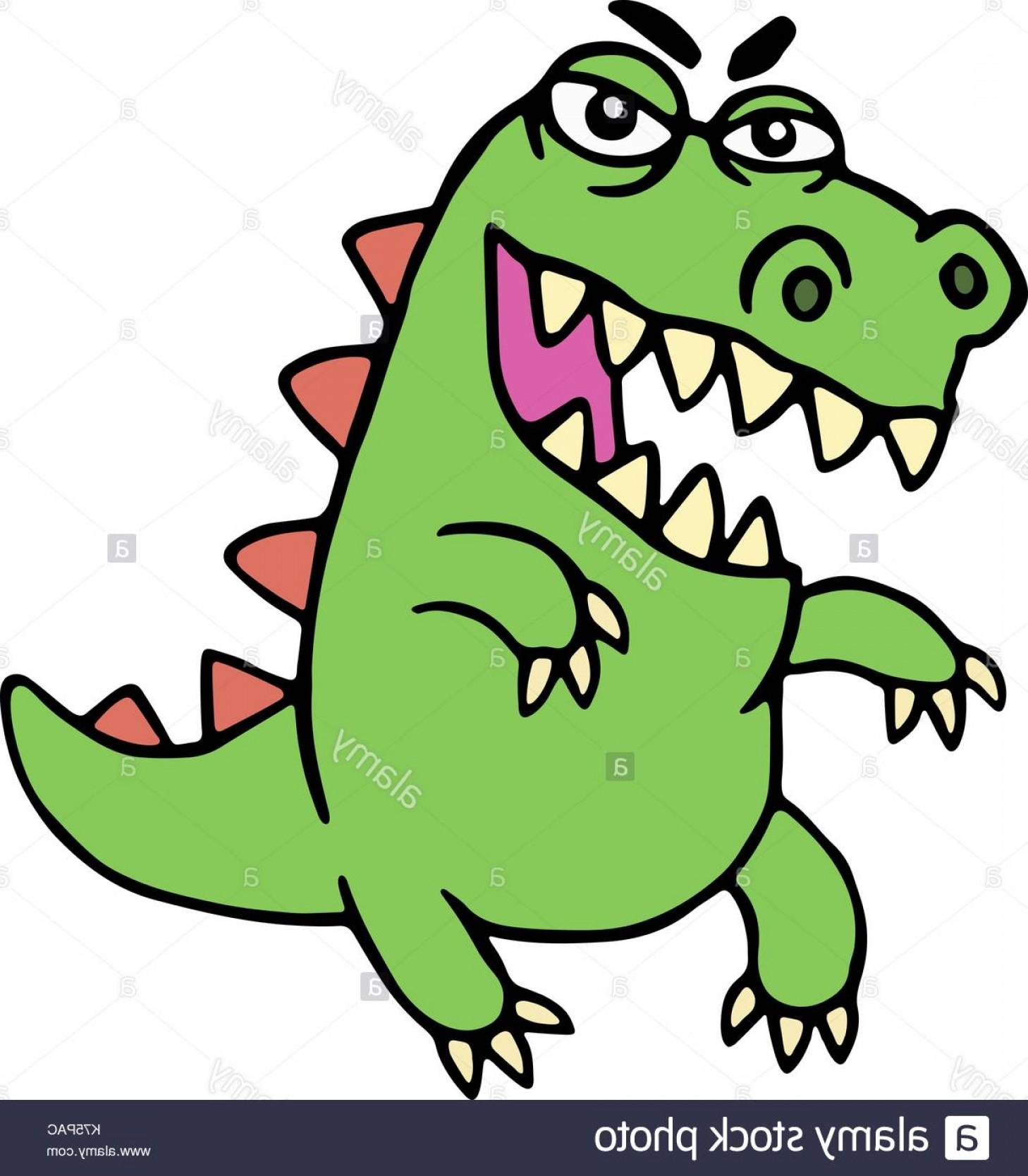 1458x1668 Stock Photo Cute Angry Cartoon Dinosaur Vector Illustration Funny