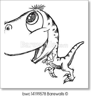 362x382 Art Print Of Sketch Doodle Cute Dinosaur Barewalls Posters