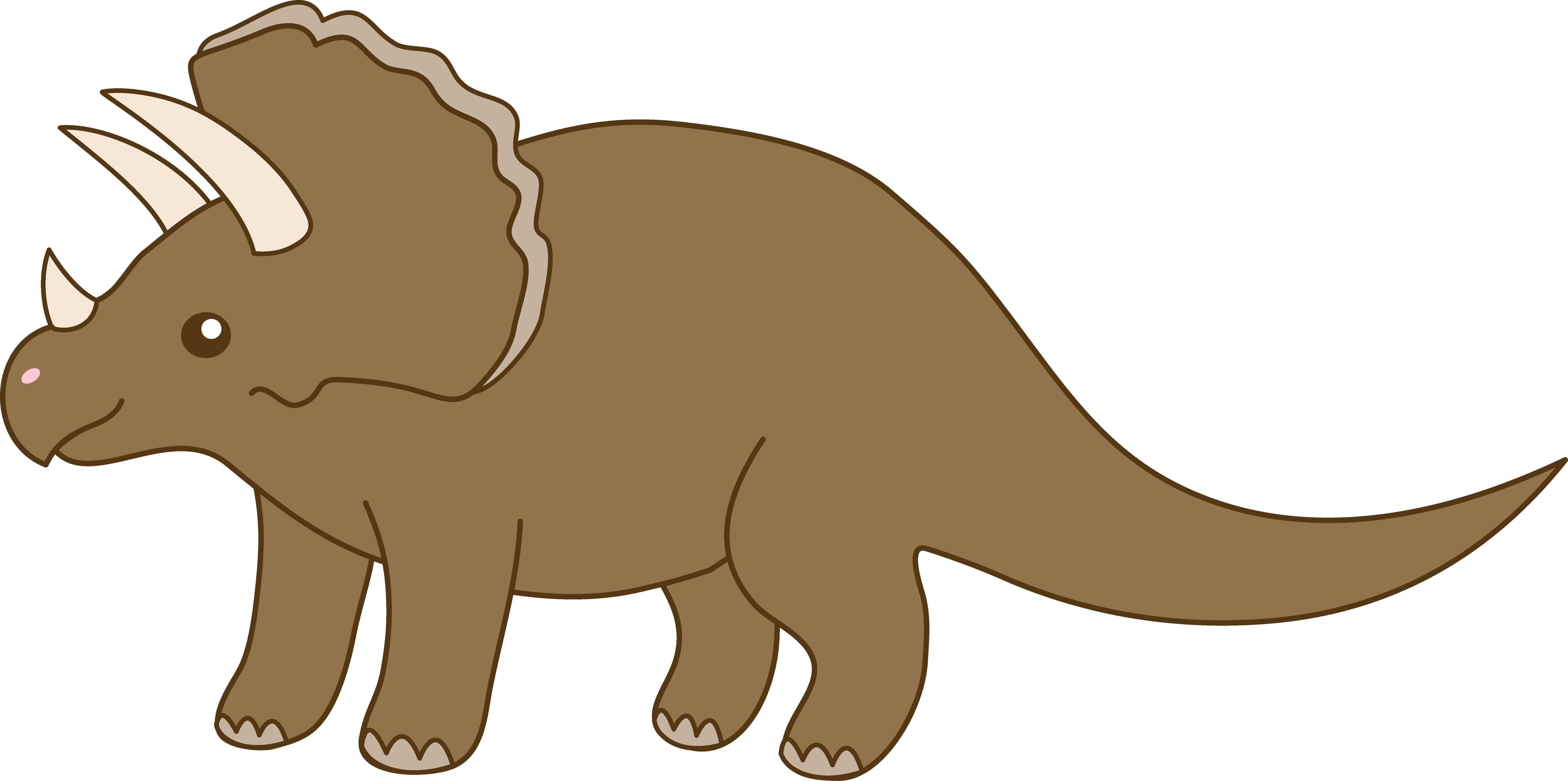 8400x4185 Triceratops Dinosaur Vector Clipart