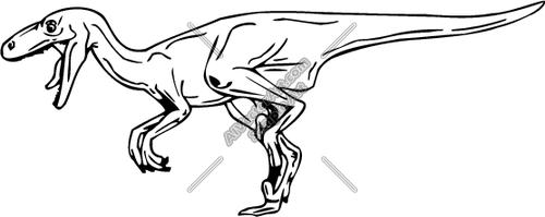 500x199 Velociraptor Dinosaur Clipart And Vectorart Animals