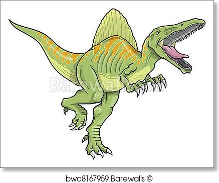 437x364 Art Print Of Spinosaurus Dinosaur Vector Art Barewalls Posters