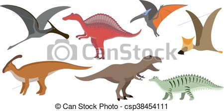 450x223 Cartoon Dinosaur Vector Illustration. Dinosaur Cartoon Vector