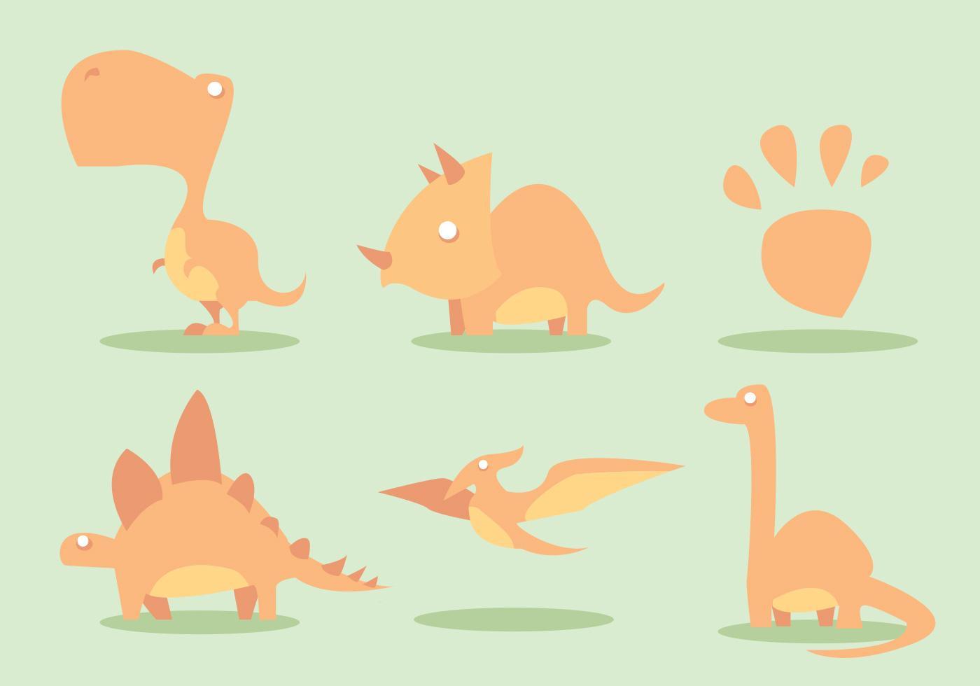 1400x980 Dinosaur Vector Set