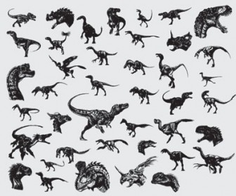 336x280 Dinosaurs Vector Illustration Pack