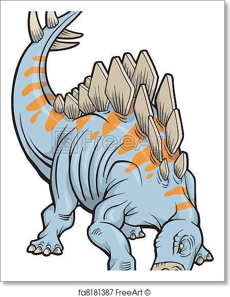 450x580 Free Art Print Of Stegosaurus Dinosaur Vector. Stegosaurus