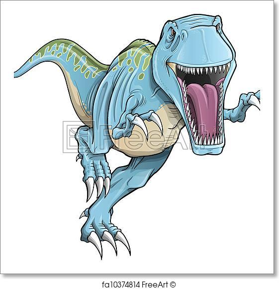 561x581 Free Art Print Of Tyrannosaurus Rex Dinosaur Vector