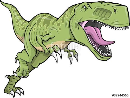 500x376 Tyrannosaurus Dinosaur Vector Illustration Stock Image And