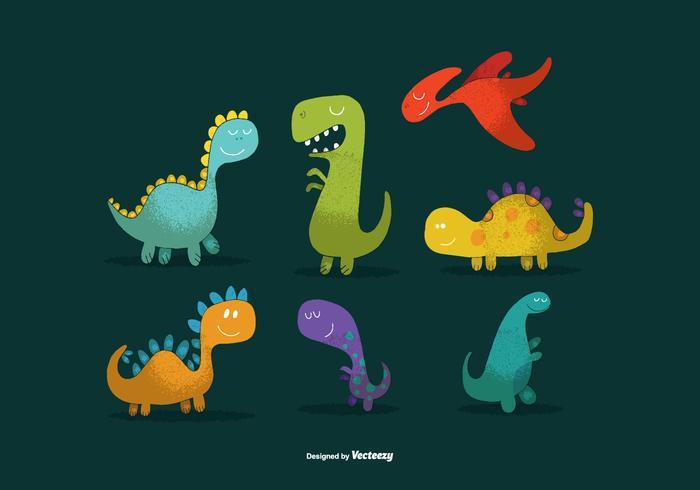 700x490 Cute Dinosaur Vectors