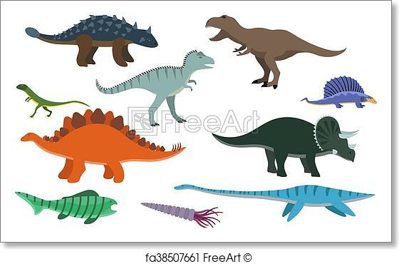 560x370 Free Art Print Of Cartoon Dinosaur Vector Illustration. Dinosaur