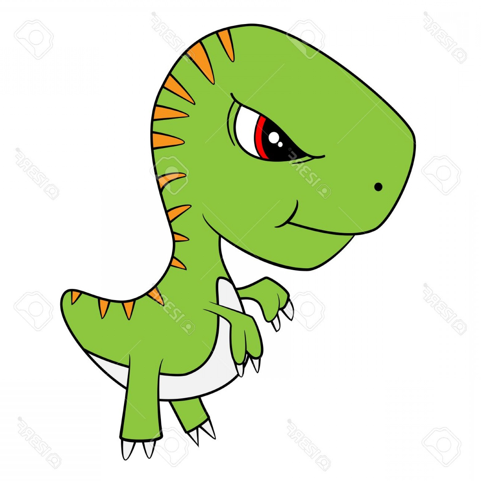 1560x1560 Photostock Vector Illustration Of Cute Cartoon Of Baby T Rex