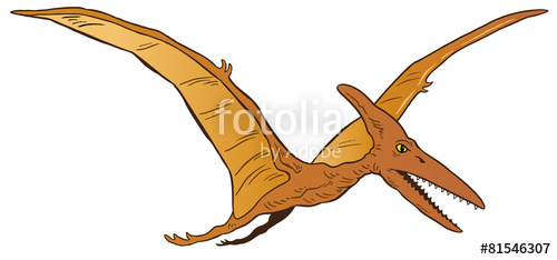 500x234 Pterodactyl Dinosaur Vector Stock Image And Royalty Free Vector