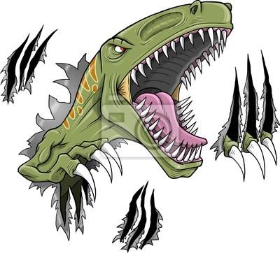 400x362 Velociraptor Dinosaur Vector Illustration Plain Wall Mural Dino