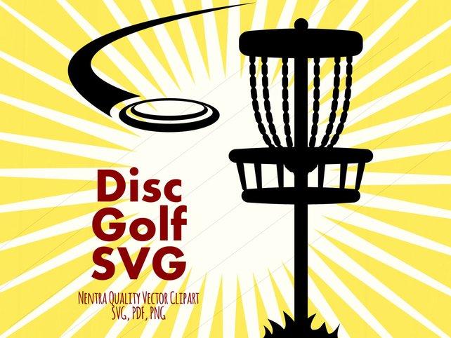 642x482 80% Off Sale Disc Golf Basket Svg Clipart Grassy Disk Golfer Etsy