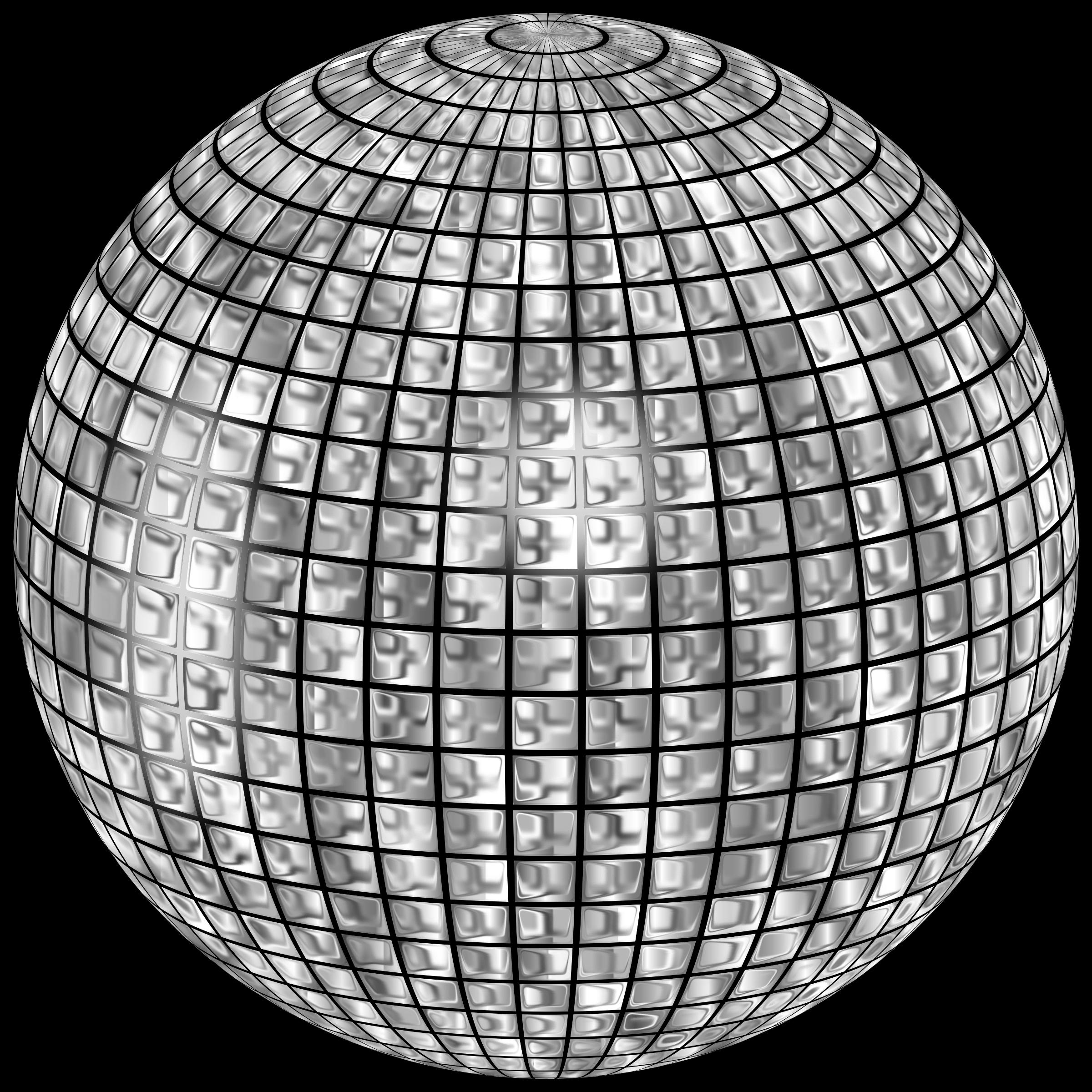 2400x2400 Disco Ball Vector Art Image