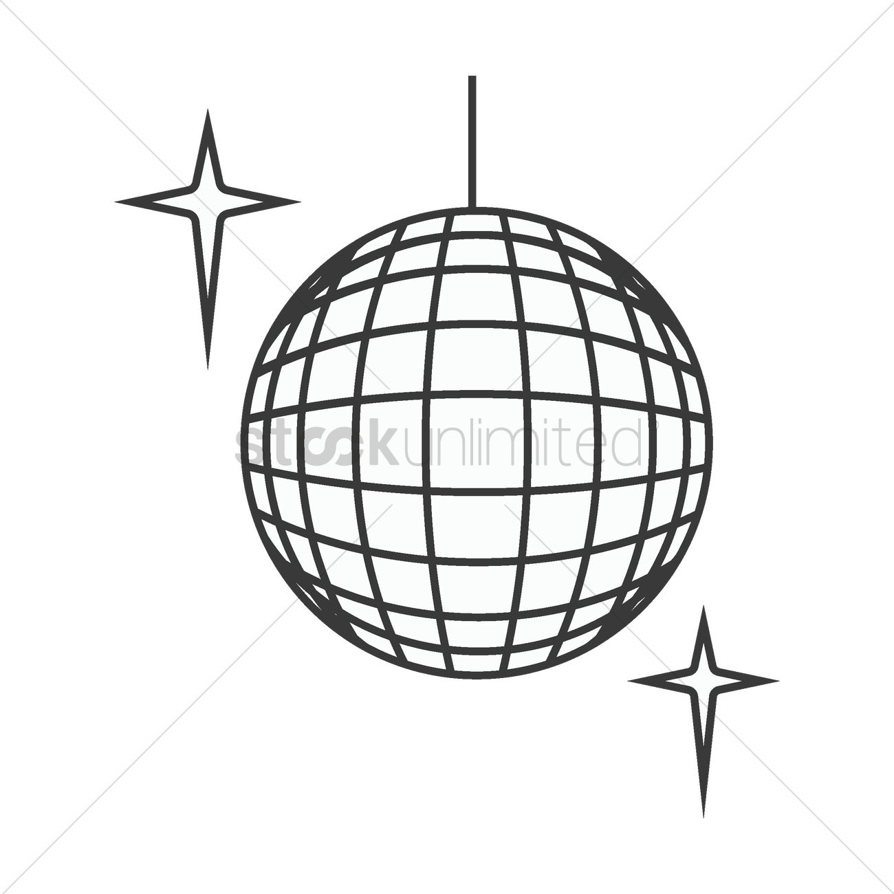 1300x1300 Disco Ball Vector Image