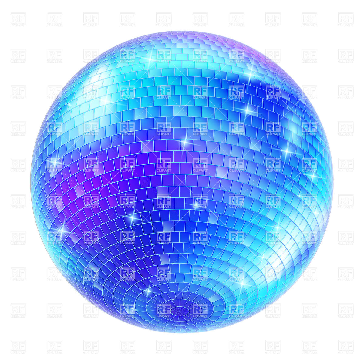 1200x1200 Blue Disco Ball Vector Image Vector Artwork Of Objects Dvarg