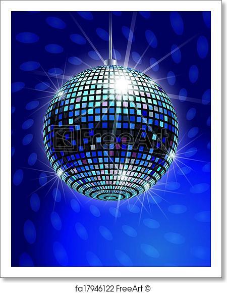 450x580 Free Art Print Of Mirror Disco Ball Vector Freeart Fa17946122