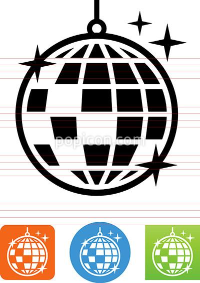 400x564 Vector Disco Ball Icon