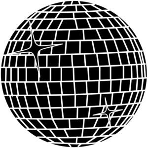 300x300 White Disco Ball Clip Art