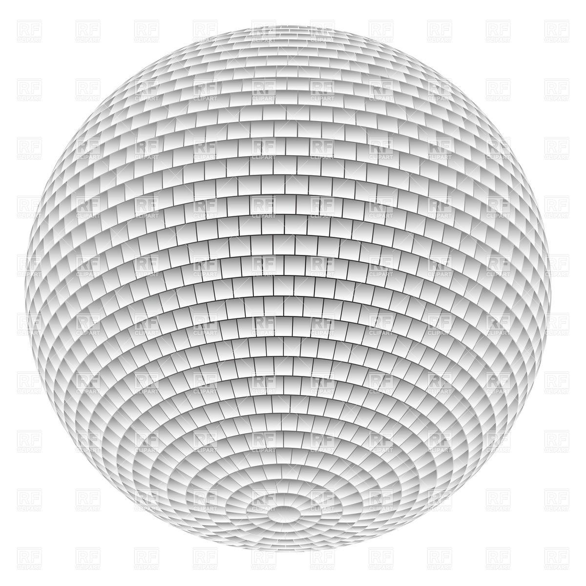 1200x1200 White Disco Ball Vector Image Vector Artwork Of Objects Dvarg