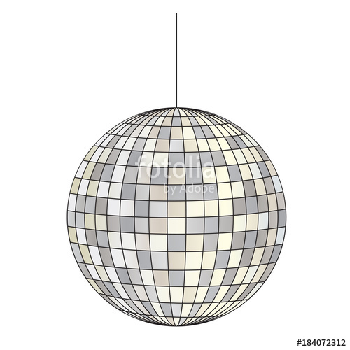 500x500 Mirrored Disco Ball Vector Clipart Illustration Stock Photo And