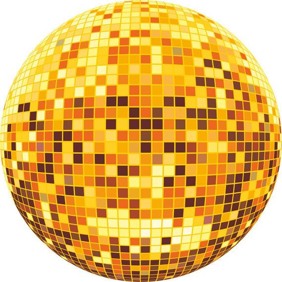 570x570 Colorful Disco Ball Vector