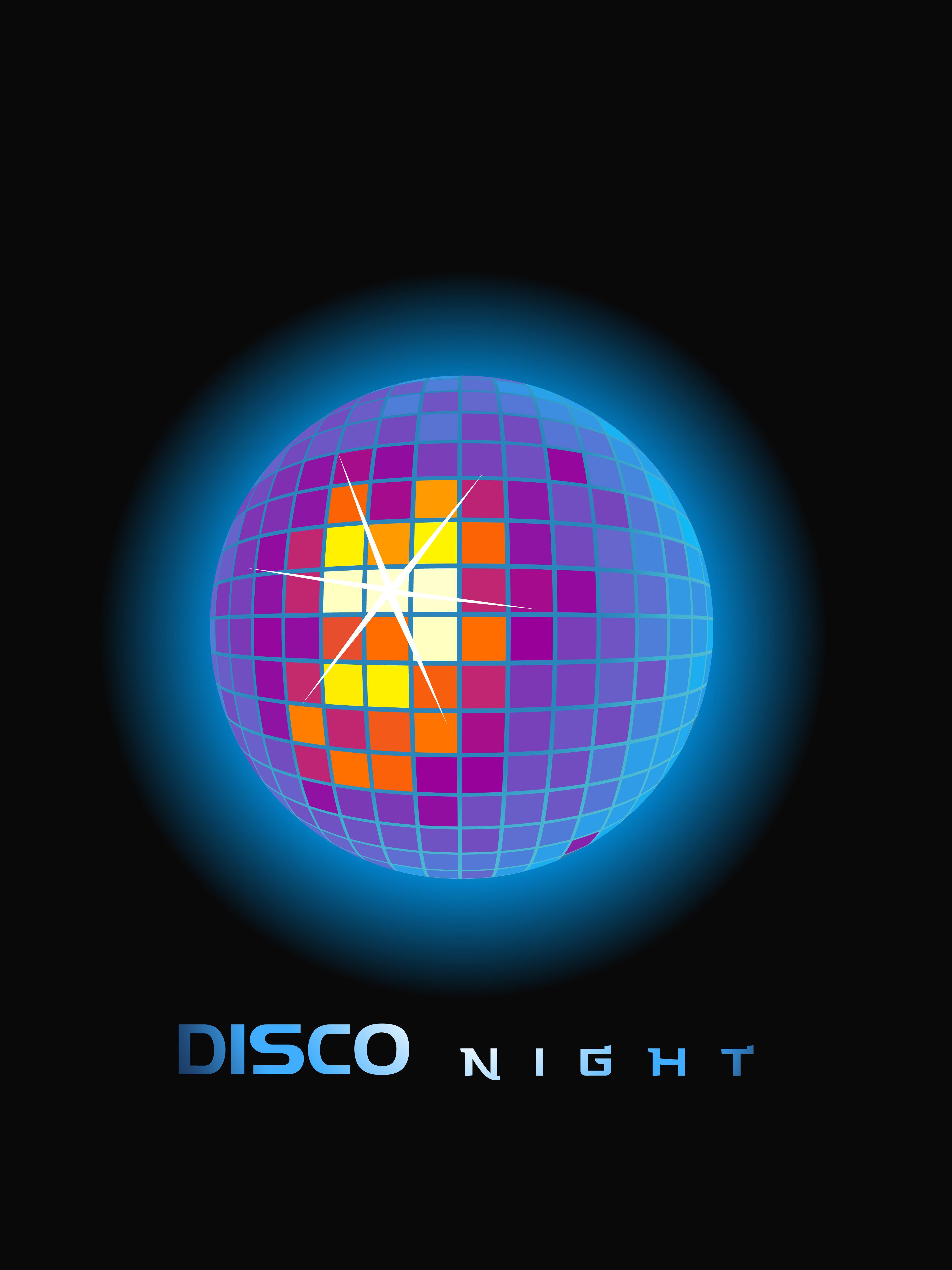 4049x5400 Disco Ball Free Vector Art