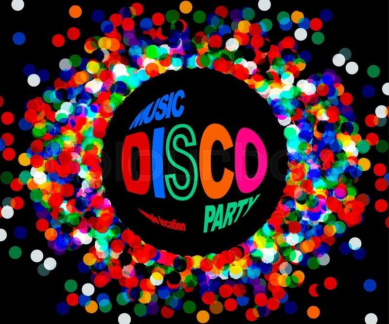 800x666 Disco Party Poster. Musik Disco Vector. 10 Eps Stock Vector