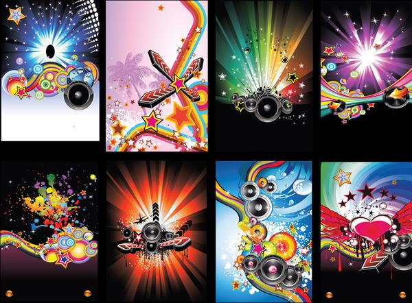 600x442 Disco Vector Pack Free Vector In Adobe Illustrator Ai ( .ai