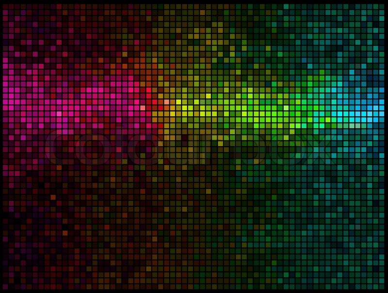 800x605 Multicolor Abstract Lights Gold Disco Background. Square Pixel