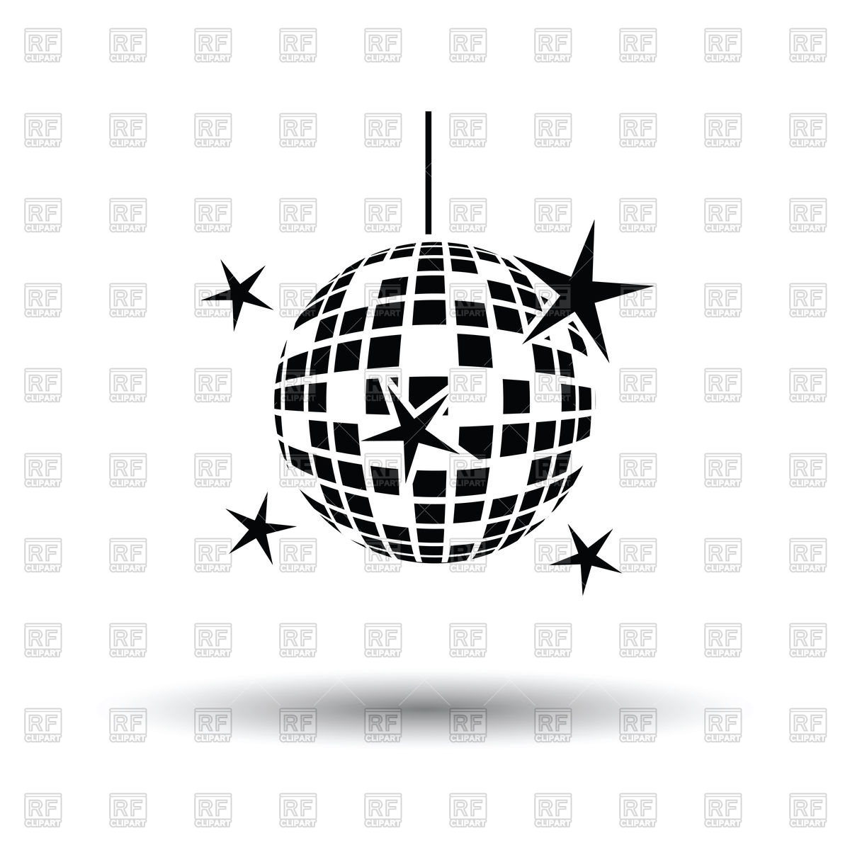 1200x1200 Night Clubs Disco Sphere Icon Vector Image Vector Artwork Of