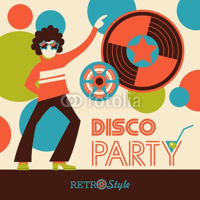 400x400 Retro Disco. Vector Illustration, Poster. Buy Photos Ap Images