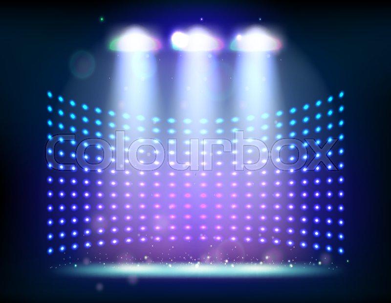 800x621 Scene Illumination Show, Bright Lighting With Spotlights