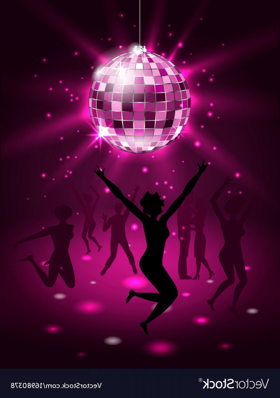 912x1296 Silhouette People Dancing In Night Club Disco Vector Rongholland