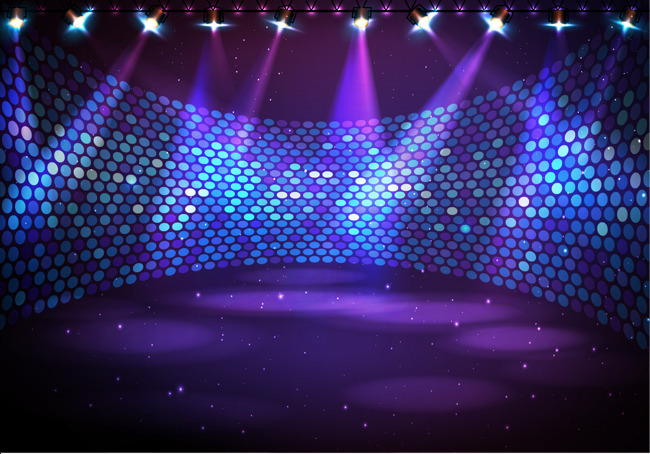 650x454 Wraparound Stage Under Lights, Pretty, Disco, Light Png And Vector