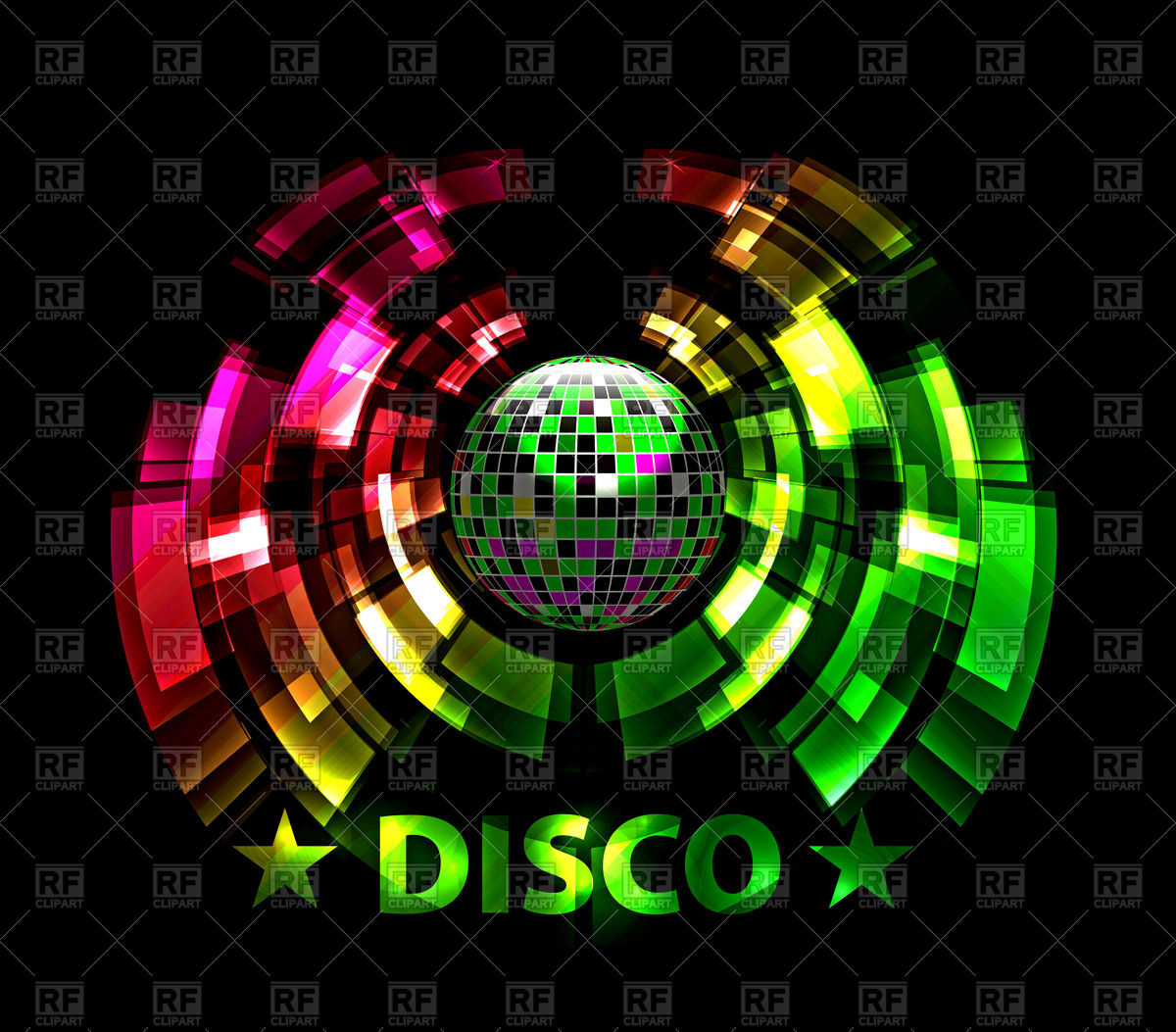 1200x1053 Abstract Party Background With Disco Ball Vector Image Vector