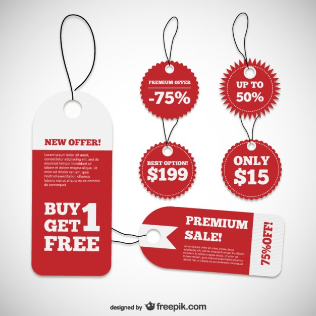 626x626 Discount Product Labels Vector Free Download