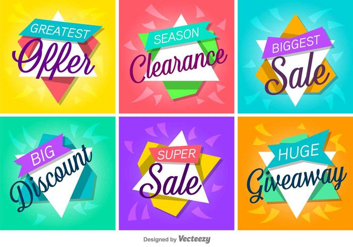 700x490 Sale And Discount Vector Labelsanners