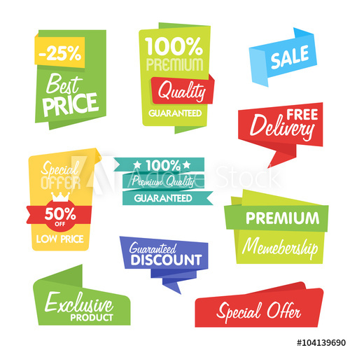500x500 Sale And Discount Vector Sticker. Isolated Sticker On White