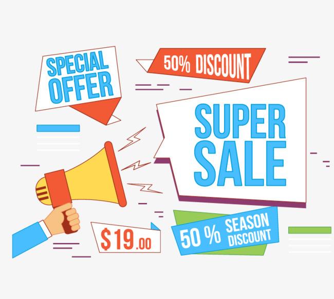650x583 Vector Hand Loudspeaker Propaganda Discounts, Discount, Vector