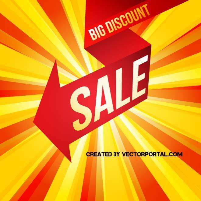 660x660 Big Discount Vector Poster