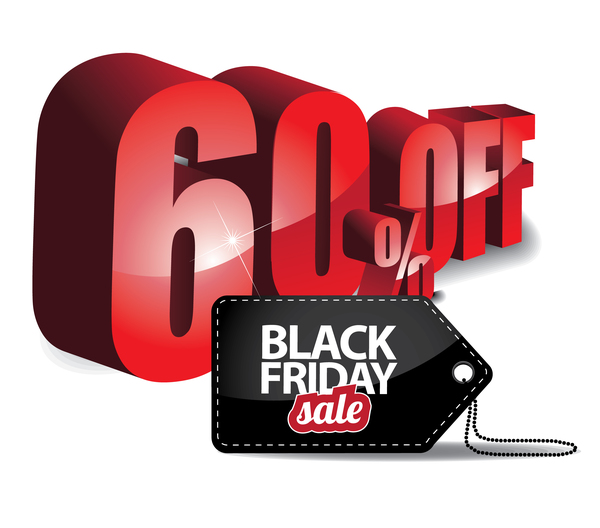 600x528 Black Friday Sale Tag With Discount Vector 06 Free Download