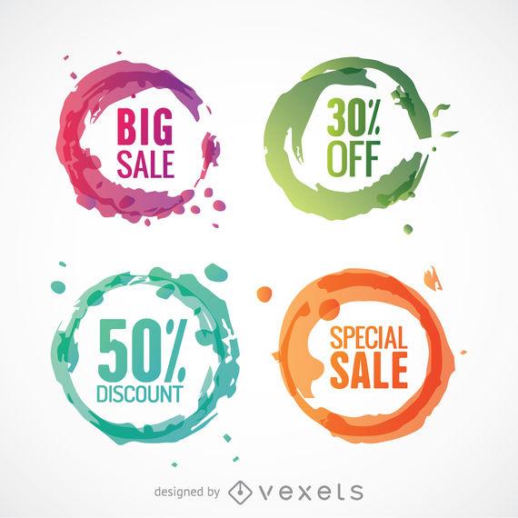 570x570 Colorful Circle Discount Vectors Set