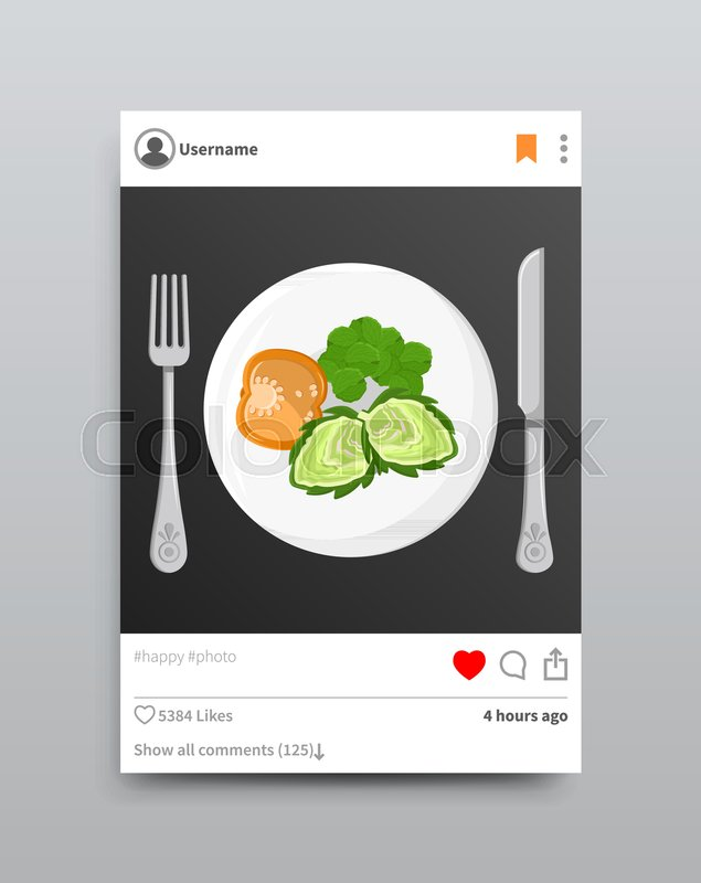 635x800 Dish Posted On Instagram, Plate And Broccoli With Tomato, Fork And