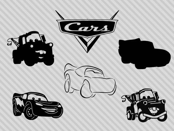 570x428 Disney Cars Svg Bundle Disney Cars Clipart Lightning Mcqueen Etsy