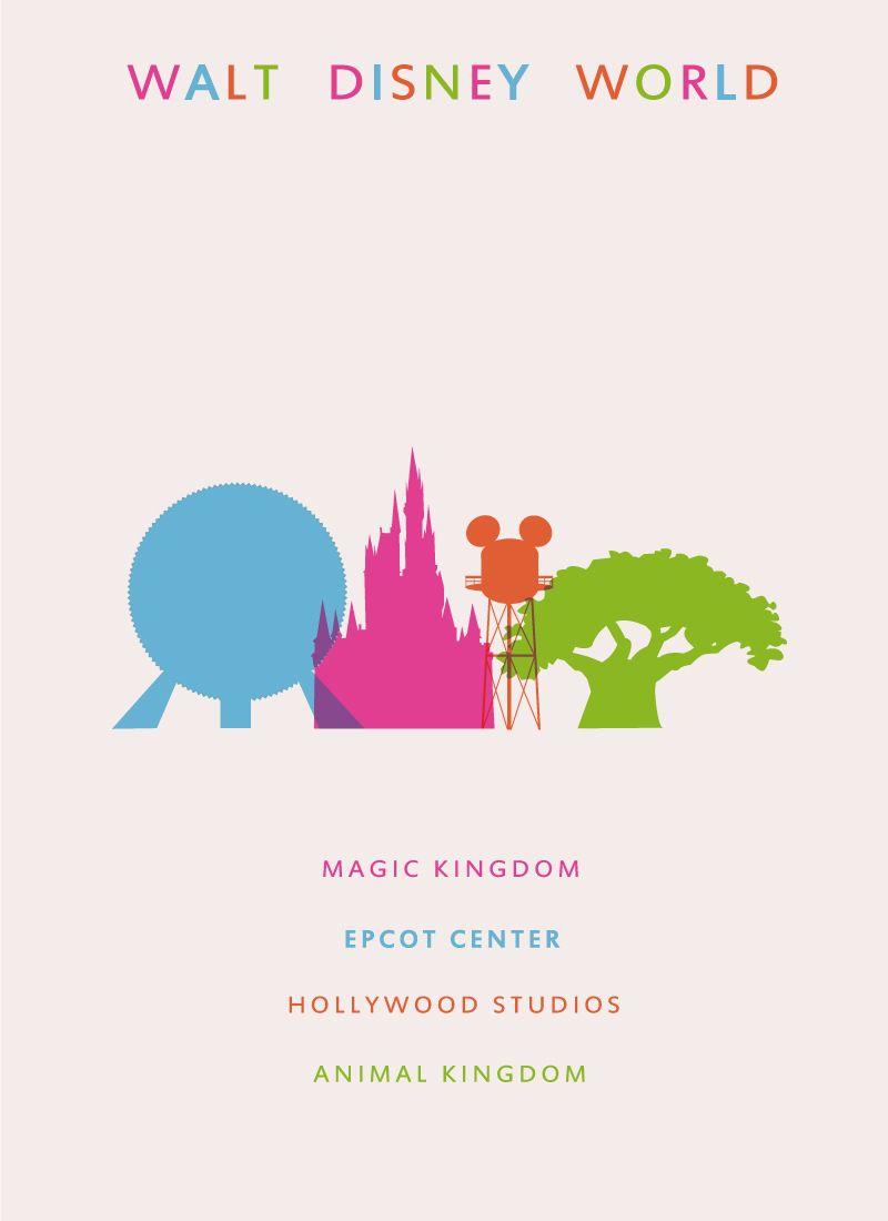 800x1100 Disney Castle Logo Vector Walt Disney World Travel Poster By