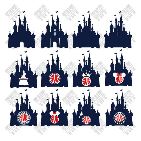 570x570 Disney Castle Svg Disney Castle Vector Disney Castle Etsy