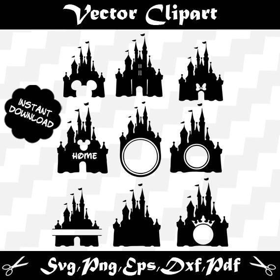 570x570 Disney Castle Svg, Disney Castle Clipart, Disney Castle Vector