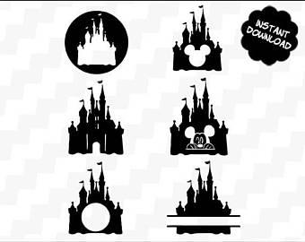 340x270 Disney Castle Svg Disney Castle Vector Disney Castle Etsy